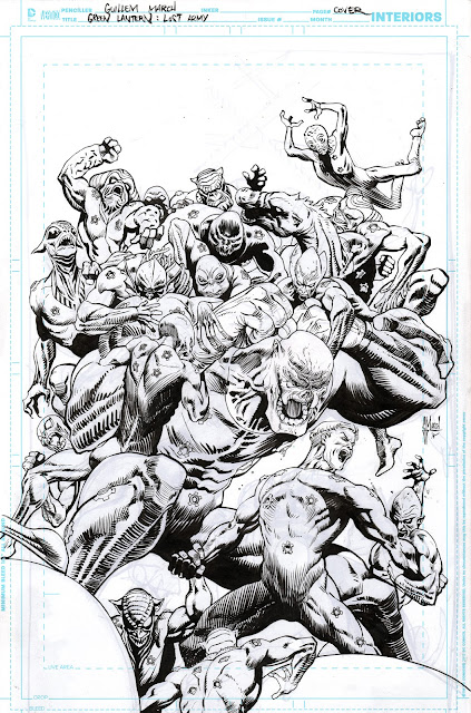 GREEN LANTERN: LOST ARMY cover process
