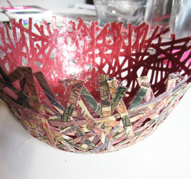 DIY Paper Bowl, Paper Bowl, Handcrafted Bowl, Mod Podge, Paper Crafts, Easy Paper Project