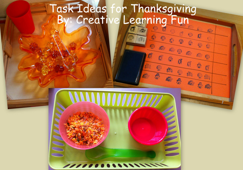 TEACCH Containers http://creativelearningfun.blogspot.com/2012/11/teacch-task-tuesday-thanksgiving-ideas.html