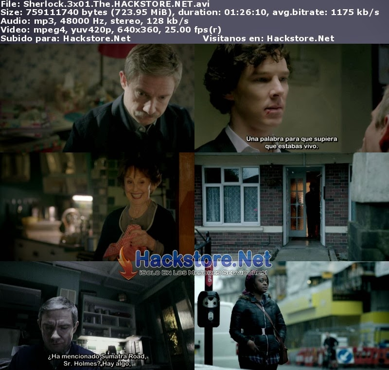 Captura Sherlock Tercera Temporada Subtitulado