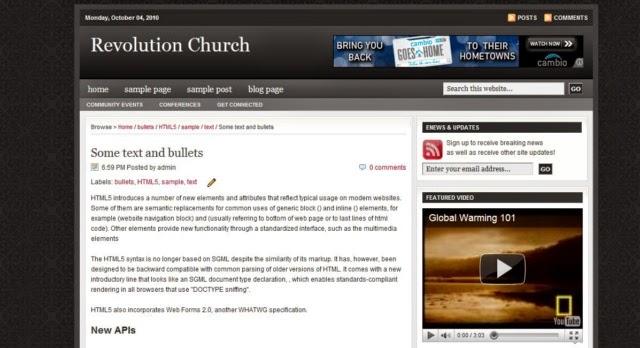 Revolution Church - Template Blogspot cho site Affiliate