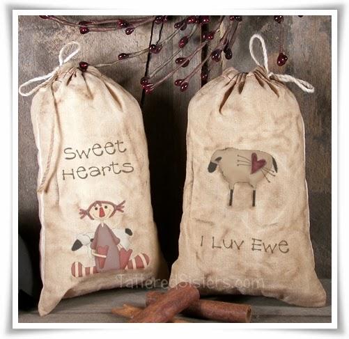 Primitive Grungy Valentine Treat Bags