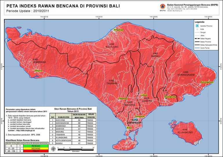 Dwifitripenembusbatas2013 Bencana Alam Di Pulau Bali