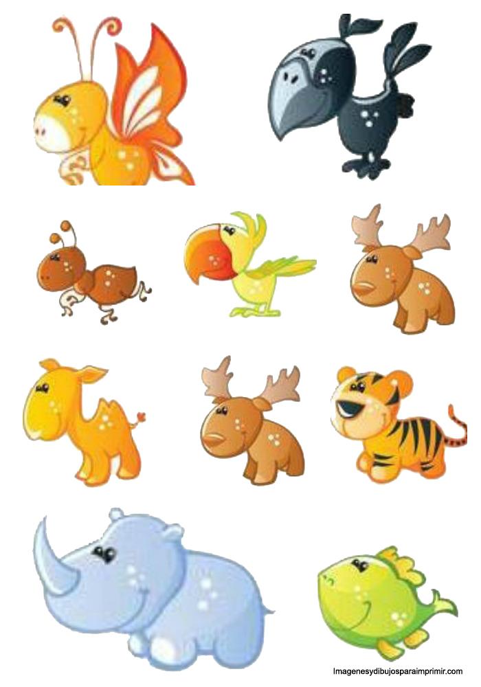 Imprimir y recortar animales - Dibujos infantiles de bebes ...