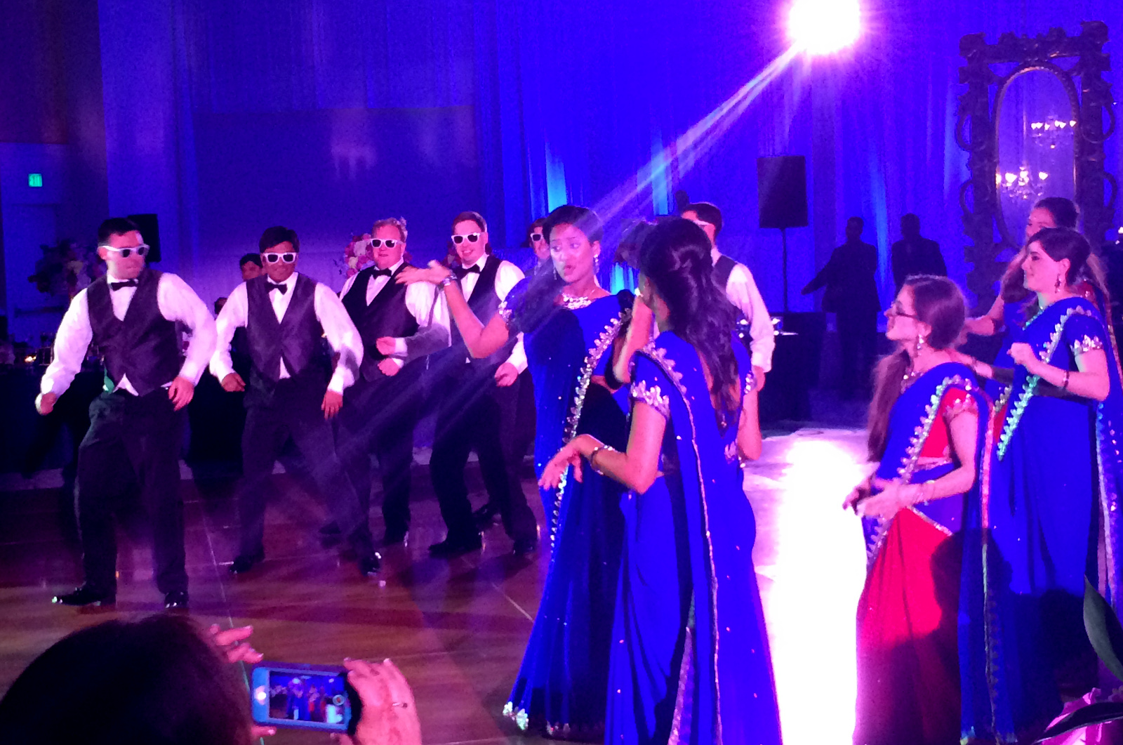 cozy birdhouse | bollywood-style dancing at joe and roshni's wedding reception