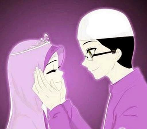 Gambar Kartun Romantis Islami Cinta Muslimah Sejati
