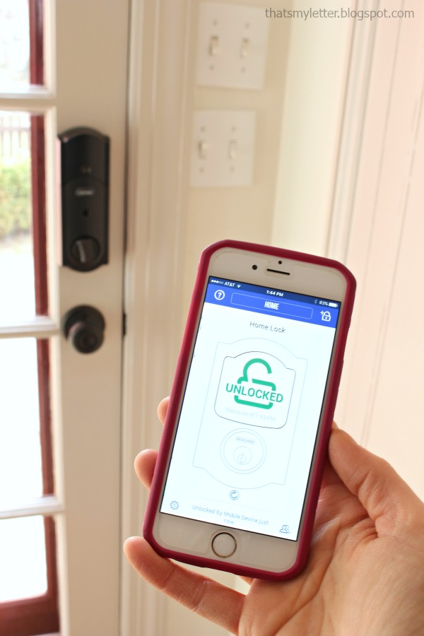 schlage sense smart deadbolt using app
