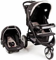 Carrinho com Bebê conforto Travel System Triciclo Fox Multi Posições Lenox Preto