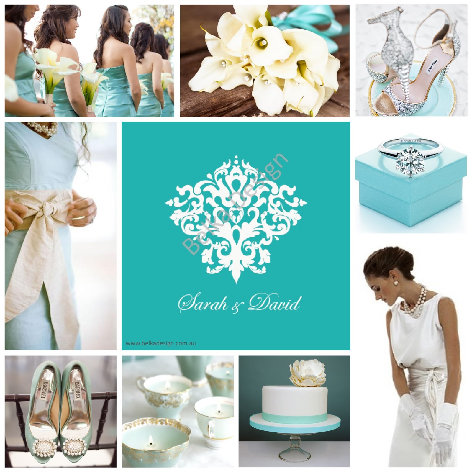 The Tiffany Blue Theme Wedding Ideas: Belka Design: Gallery