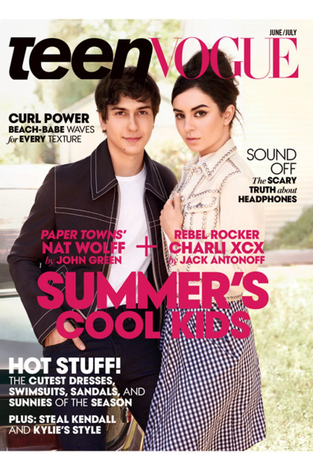 Actress, Singer @ Nat Wolff & Charli XCX for Teen Vogue US June/July 2015
