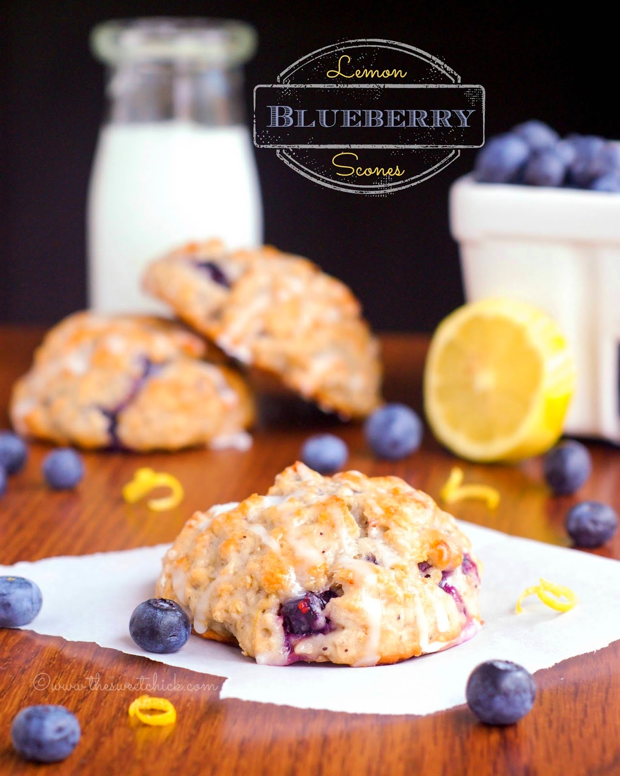 Lemon Blueberry Scones by The Sweet Chick