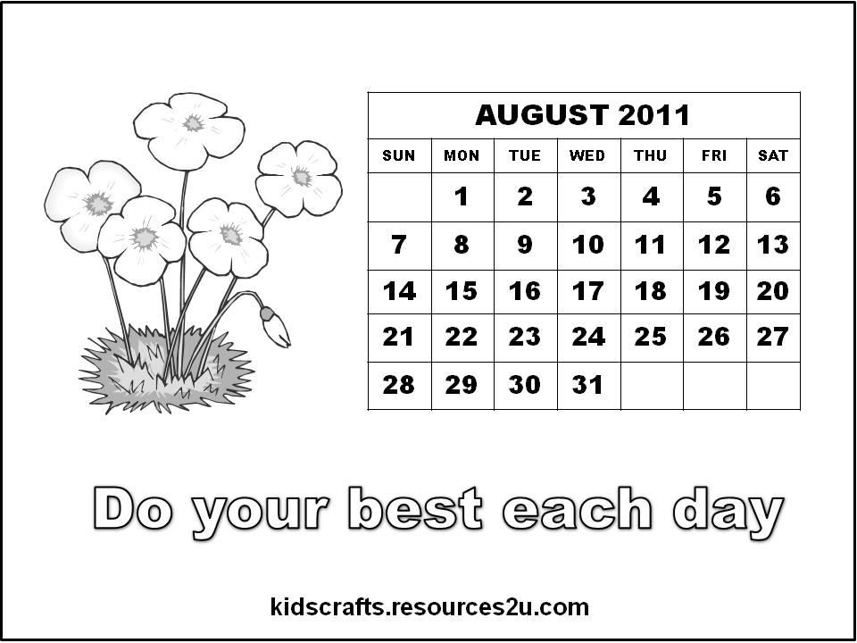 See Free Calendars 2011 for Children / Kids: http://kidscrafts ...