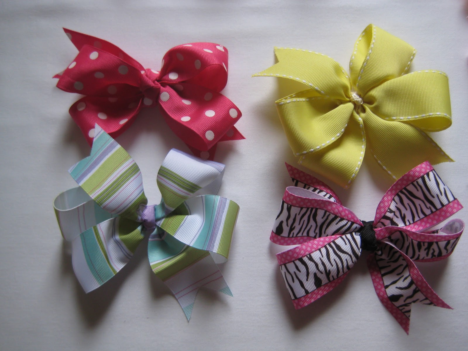 Coffee & Bananas: boutique-style hair bows
