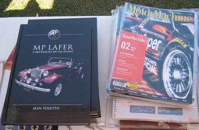 No estande do Clube MP Lafer Brasil, quem adquiria um livro do MP recebia de brinde uma edição da  MotorMachine - nova revista bimestral de Santa Catarina.