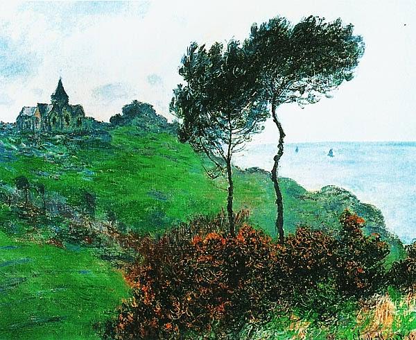 Клод Моне. Церковь в Варанжевиле. Облачный день. 1882.