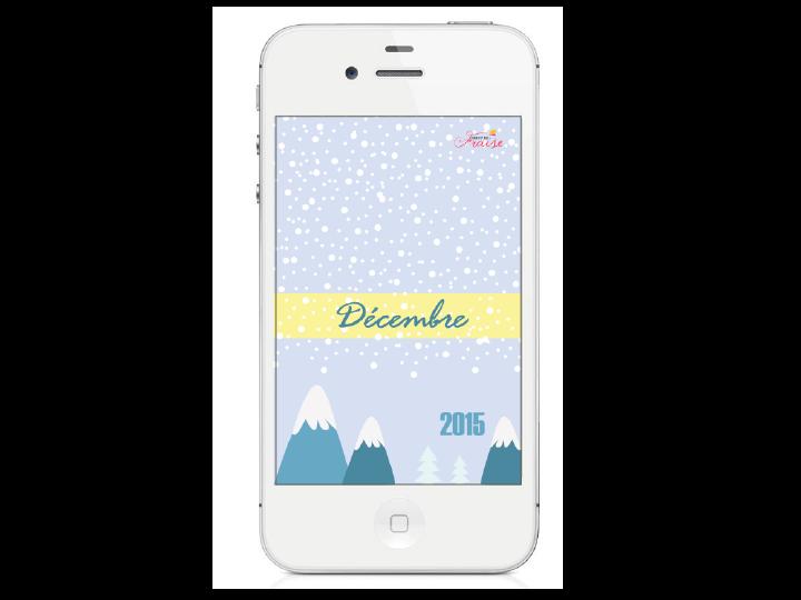 fond d'écran diy décembre hiver neige