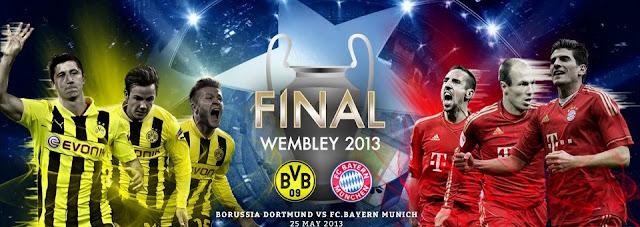 Keputusan Borussia Dortmund vs Bayern Munich 26 Mei 2013 - Final UEFA Champions League 2012/2013