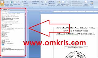 Cara Menampilkan Document Map Ms Word