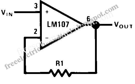 free schematic diagram  basic unity gain buffer circuit