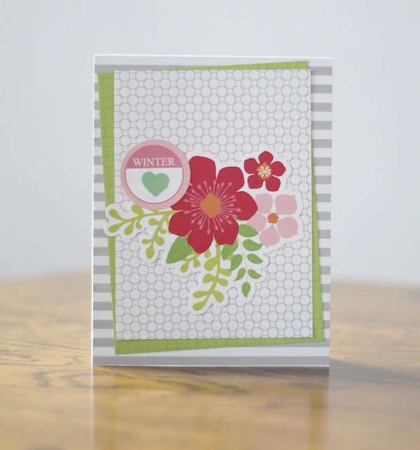 Amy Tsuruta Chickaniddy Crafts Winter Card