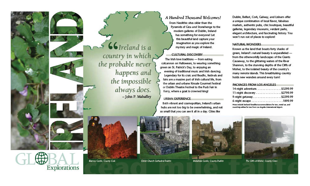 Ireland Travel Brochure  Portfolio