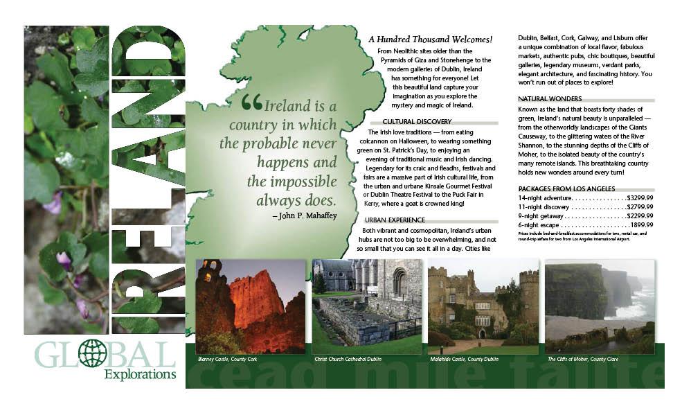 Ireland Travel Brochure Portfolio