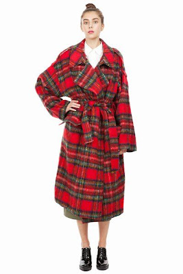 Pushbutton Tartan Coat - Opening Ceremony
