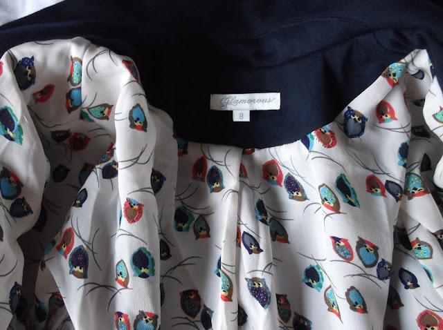 Glamorous Clothing Owl Print Blazer