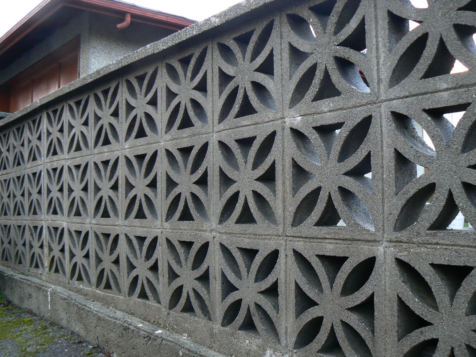 Joy And Wonder Mid Century Concrete Block Fences