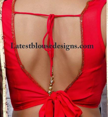 tie back saree blouse
