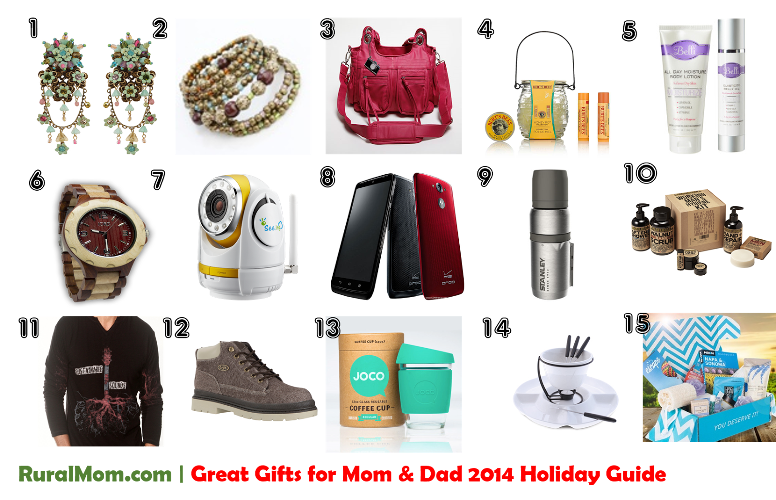 Great gifts for mom dad rural mom 2014 holiday guide Perfect christmas gifts for mom