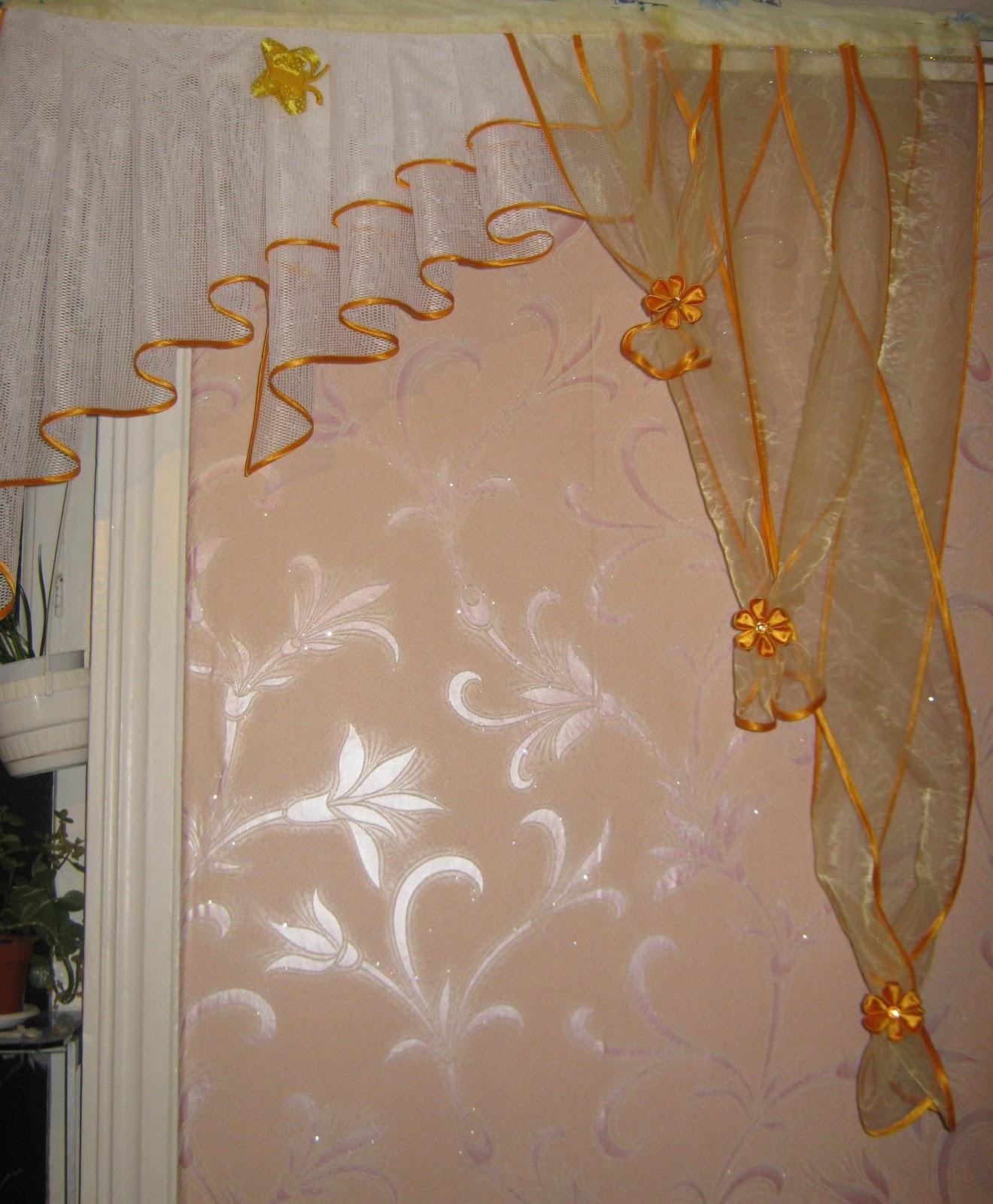 Ламбрекены на кухню из штор своими руками