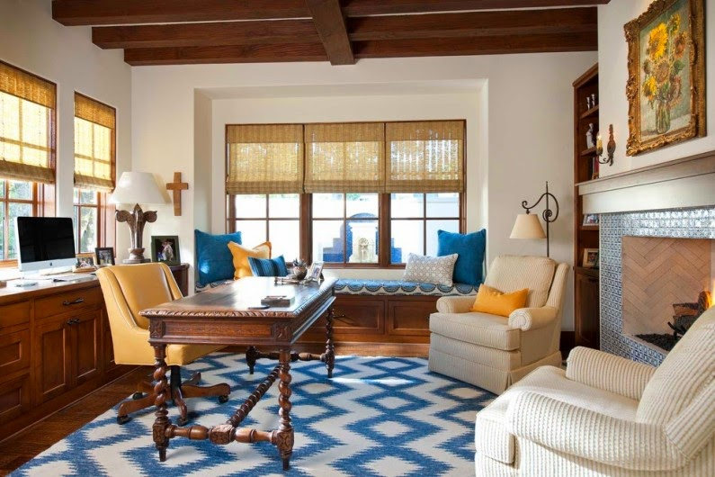 Stylish living room in a Mediterranean Style