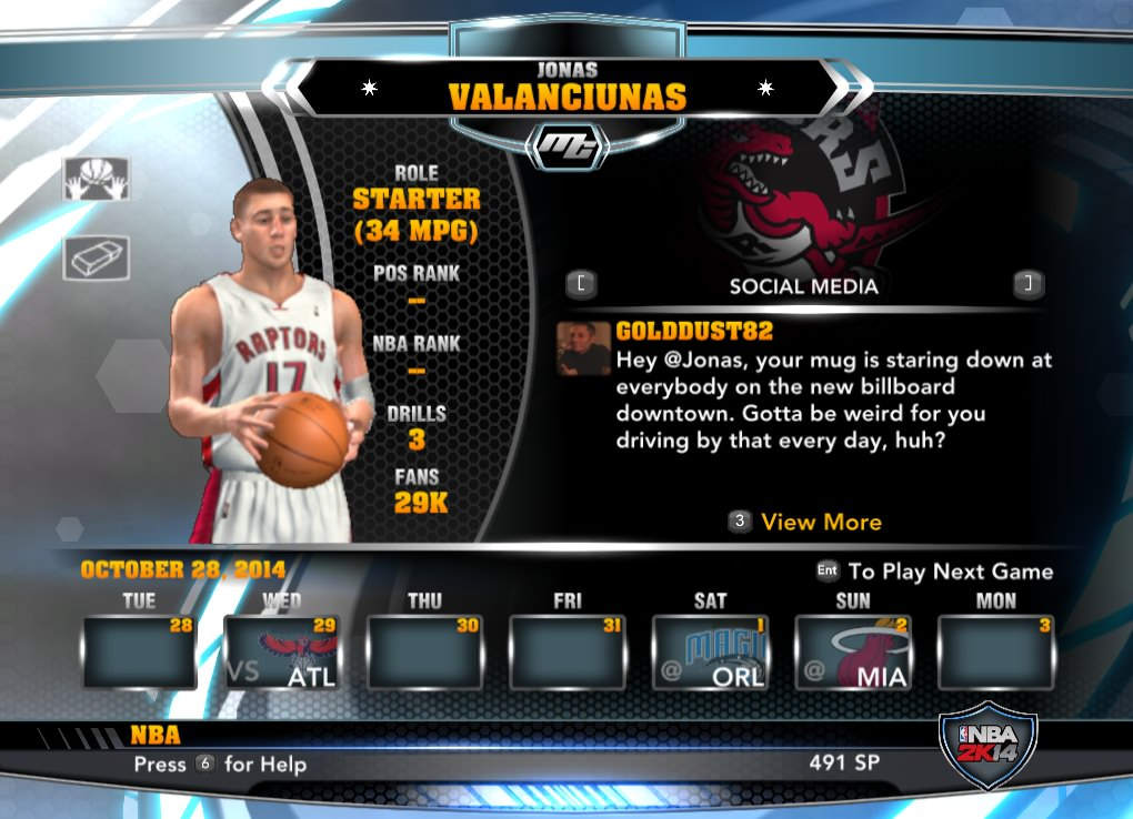 nba 2k14 Jonas Valanciunas mycareer patch download hoopsvilla