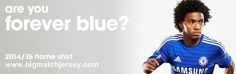 Jual Jersey Liga Inggris Chelsea Home Official 2014 - 2015