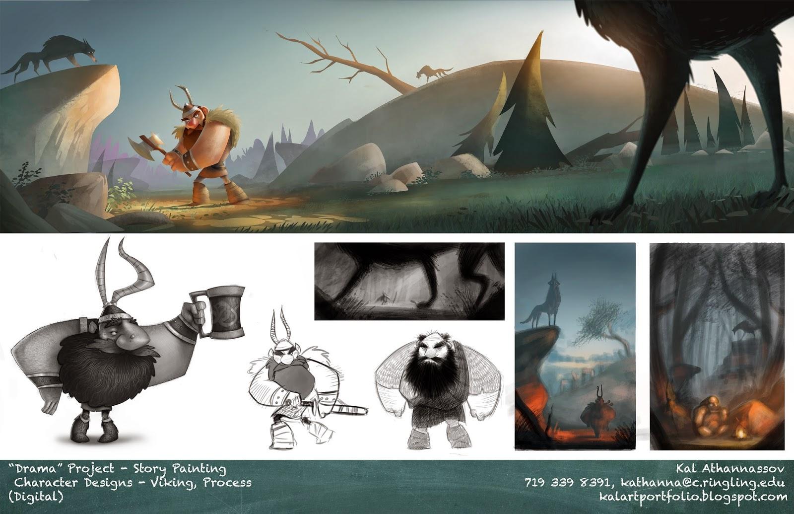 Character Design Viking Visual Development
