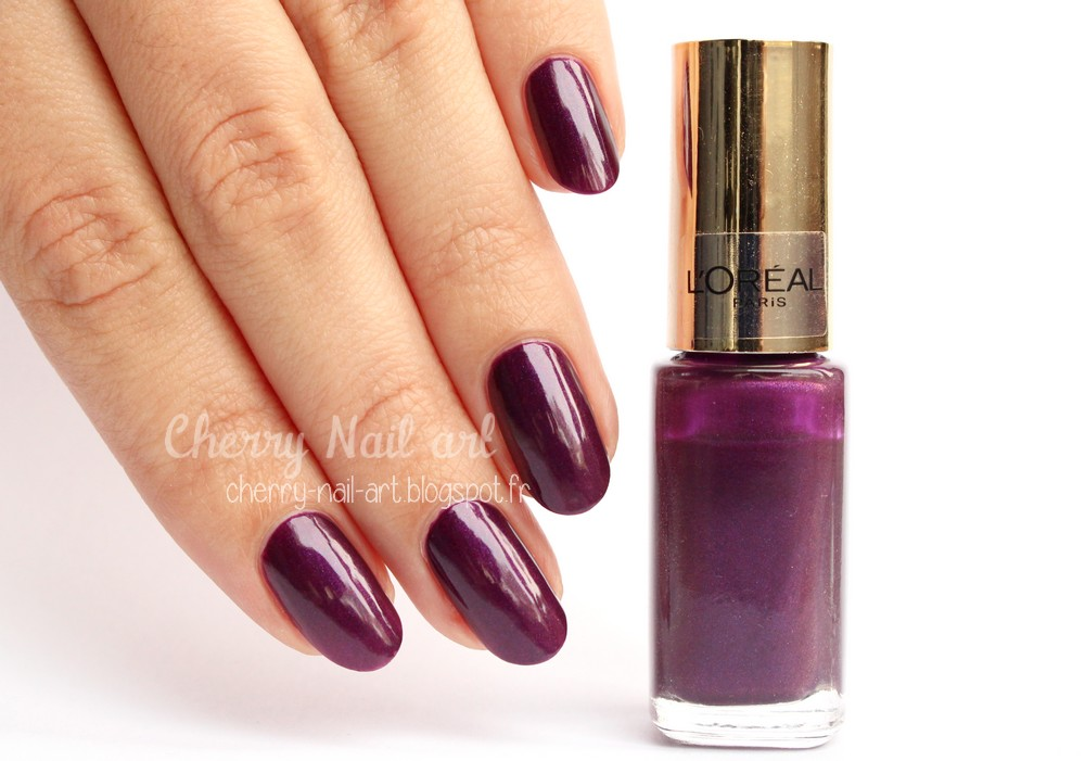 vernis l'oréal color riche 505 wild purple