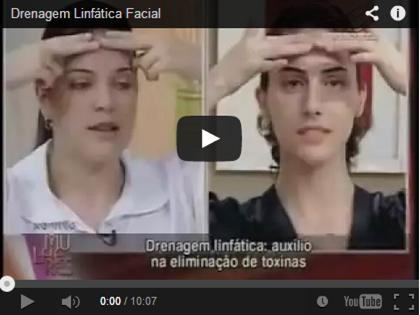 Vídeo ensinando a fazer drenagem linfática facial caseira