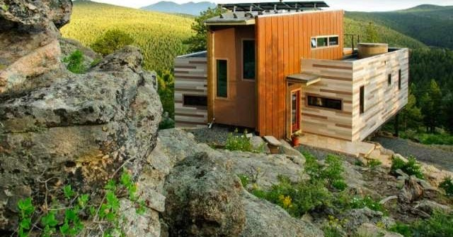 Montaintop house made of shipping container in colorado modern home design decor ideas - Shipping container homes colorado ...