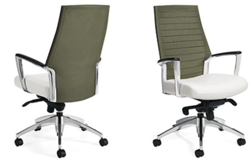 Front and Back View Global Accord Chairs