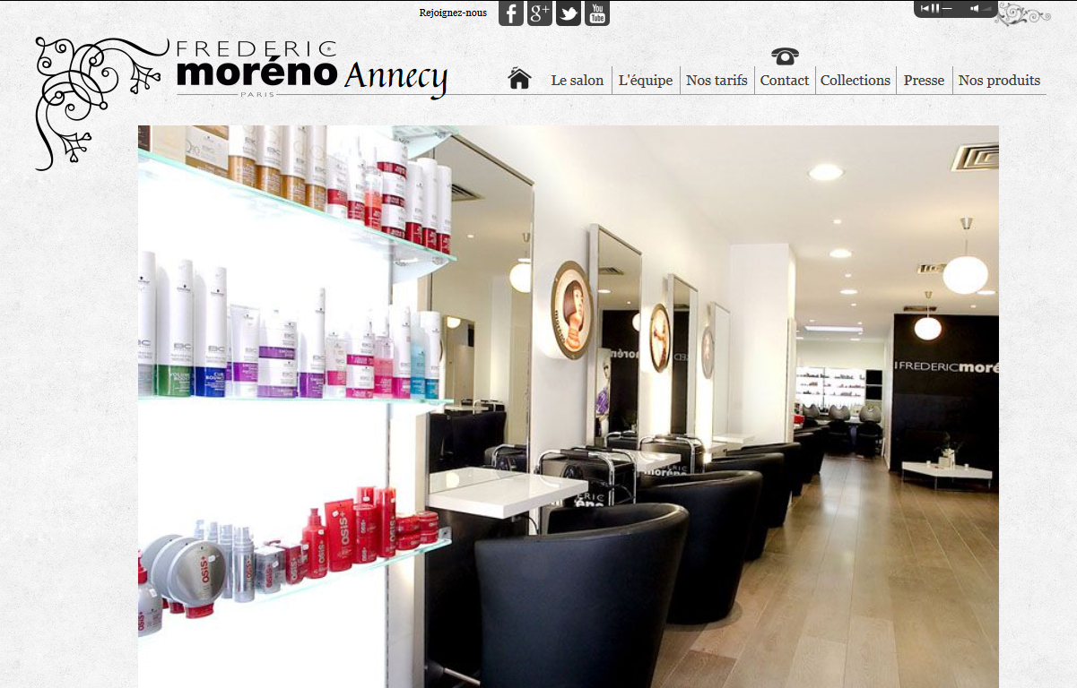 site Coiffeur Annecy | Frédéric Moréno