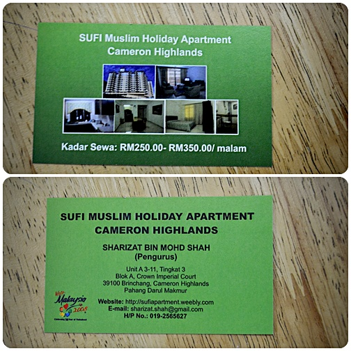 Apartment Ni Under Pengurusan Sufi Muslim Holiday Cameron Highlandstapi Korang Jangan Konpius Plak Sebab Terletak Didalam Bangunan