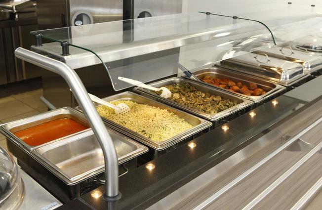Tipos y normas generales del servicio autoservicio for Cocina moderna tipo buffet