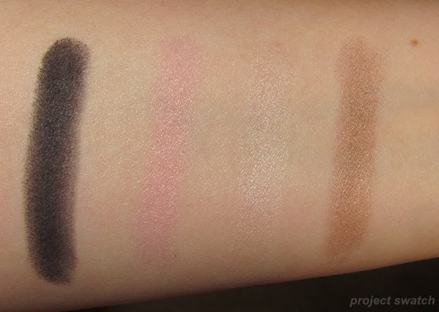 Milani Pitch Black, Tickled Pink, Pearl Caramel Brown - swatches