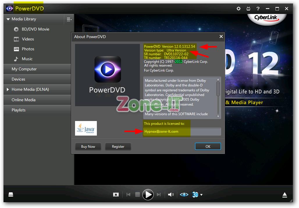 Описание: Cyberlink PowerDVD Ultra - один из самых лучших современных Верси