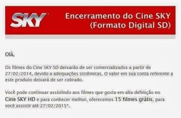 canais - Saída dos canais cine Céu  sd ja causa prejuízos Sem+t%C3%ADtulo