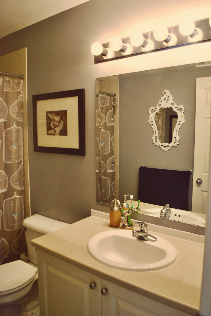the boo and the boy: our bathrooms