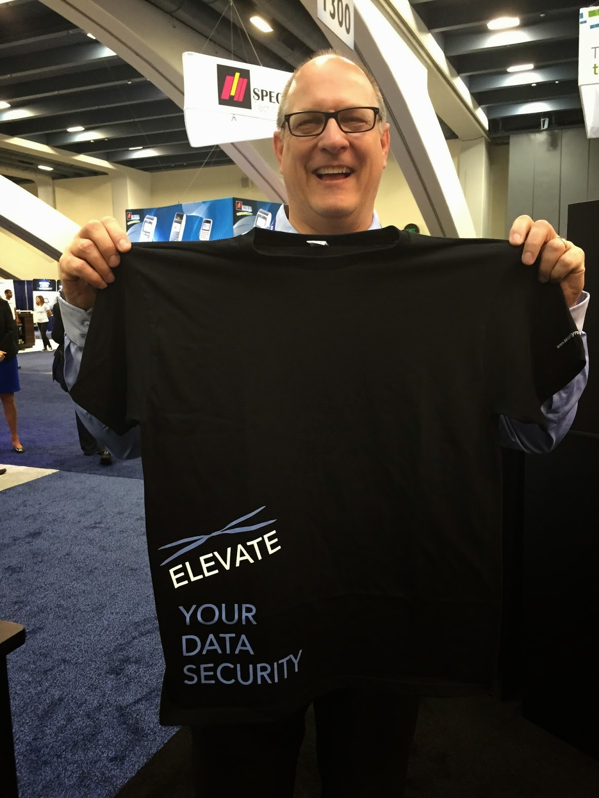 SecurityMetrics Elevate Your Data Security T-Shirts at TRANSACT
