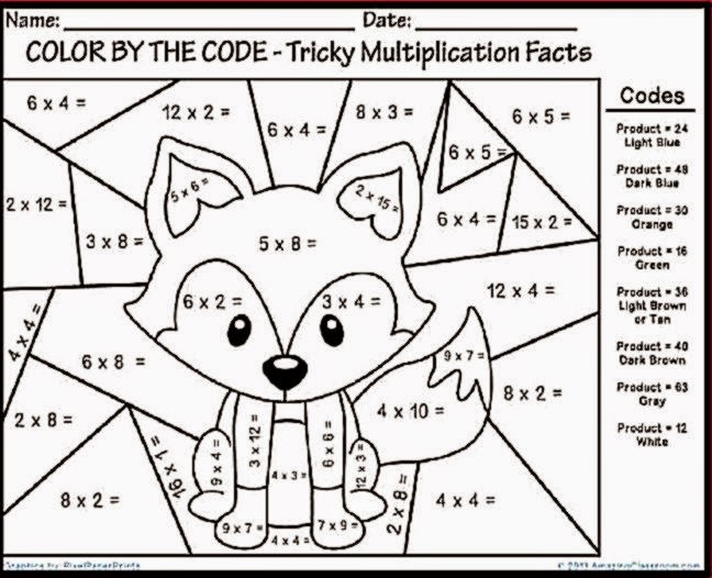 math worksheet : free printable multiplication color worksheetscoloring danning : Math Color By Number Worksheets