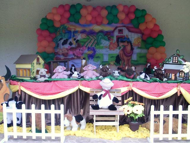 Decoração de festa infantil para aniversário - tema Fazendinha